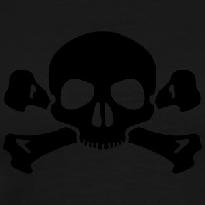 Skull crossed bones hoodie men - Men's Premium T-Shirt