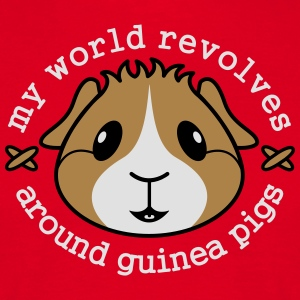 'My World Revolves Around Guinea Pigs' Apron  - Men's T-Shirt