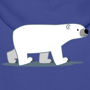 Walking Cartoon Polar Bear - Cheerful Madness!! Bags & backpacks - Men's Premium Hoodie