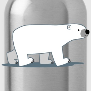 Walking Cartoon Polar Bear - Cheerful Madness!! Bags & backpacks - Water Bottle