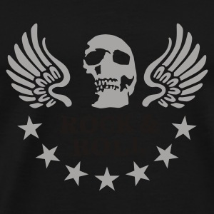 rock__roll__skull_b_2c Umbrellas - Men's Premium T-Shirt