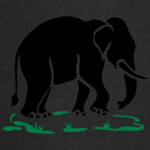 Asian Elephants Ahead Thai Traffic Sign - Cooking Apron