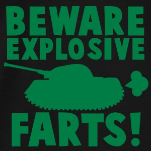 BEWARE EXPLOSIVE FARTS with a army tank Shirts - Men's Premium T-Shirt