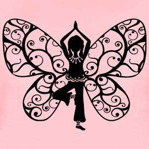Yoga girl, butterfly wings, fairy, asana, teacher Hoodies & Sweatshirts - Women's Premium T-Shirt