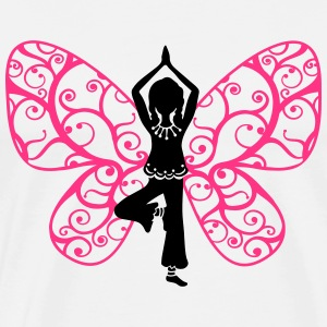 Yoga fairy, butterfly wings, girl, Asana, teacher Hoodies & Sweatshirts - Men's Premium T-Shirt