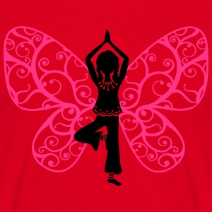 Yoga fairy, butterfly wings, girl, Asana, teacher Hoodies & Sweatshirts - Men's T-Shirt
