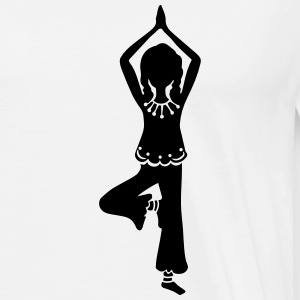 Yoga Girl, Tree, asana, yoga teachers, meditation Tröjor - Premium-T-shirt herr