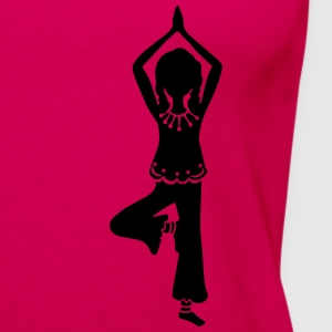 Yoga Girl, Tree, asana, yoga teachers, meditation T-Shirts - Women's Premium Tank Top