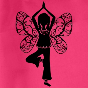Yoga girl, butterfly wings, fairy, asana, teacher Magliette - Sacca sportiva