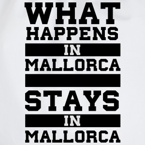 White What Happens in Majorca stays in Mallorca T-Shirts - Drawstring Bag