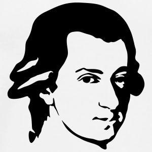 Mozart portrait tote bag - Men's Premium T-Shirt