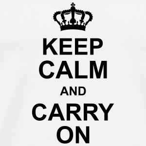 keep_calm_and_carry_on_g1 Kopper & flasker - Premium T-skjorte for menn