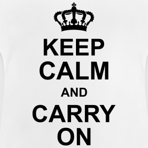 keep_calm_and_carry_on_g1 Skjorter - Baby-T-skjorte