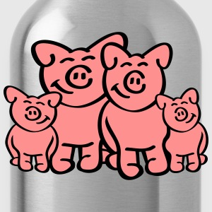 Pig Family T-Shirts - Trinkflasche