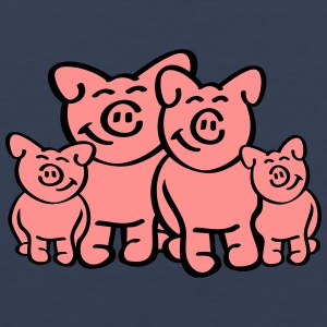 Pig Family T-shirts - Mannen Premium tank top