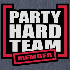 Party Hard Team Member T-Shirts - Schultertasche aus Recycling-Material
