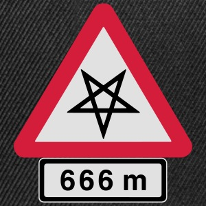 Satanic Pathway, Direct to Hell at 666 Meters. - Snapback Cap