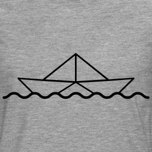 Swimming Paper Boat T-Shirts - Men's Premium Longsleeve Shirt