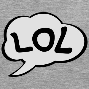 Speech Bubble LOL T-shirts - Herre premium T-shirt med lange ærmer