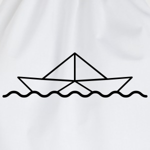 Swimming Paper Boat T-Shirts - Drawstring Bag