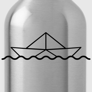Swimming Paper Boat T-Shirts - Water Bottle