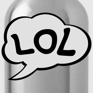 Speech Bubble LOL T-Shirts - Water Bottle