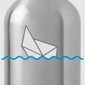 Sinking Paper Boat T-Shirts - Water Bottle