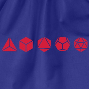 Platonic Solids, Sacred Geometry, Mathematics T-Shirts - Drawstring Bag