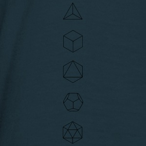 Platonic Solids, Sacred Geometry, Mathematics Hoodies & Sweatshirts - Men's T-Shirt