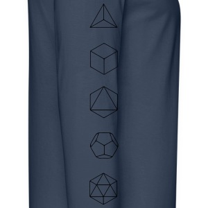 Platonic Solids, Sacred Geometry, Mathematics Hoodies & Sweatshirts - Men's Premium Longsleeve Shirt