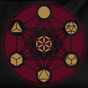 Platonic Solids, Metatrons Cube, Flower of Life T- - Kids' Backpack