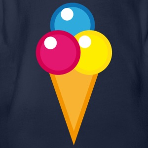 Eis Waffel Ice Cream  T-Shirts - Baby Bio-Kurzarm-Body