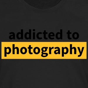 addicted to photography accro à la photographie Tee shirts - T-shirt manches longues Premium Homme