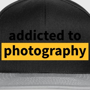 addicted to photography beroende av fotografi T-shirts - Snapbackkeps