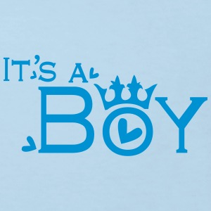 It's a Boy Baby long sleeve One piece - Kids' Organic T-shirt