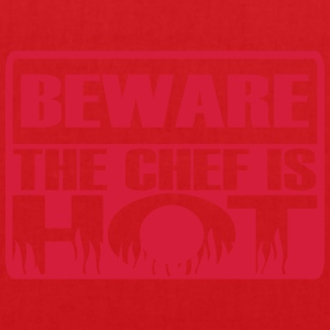 Beware the chef is hot  Aprons - Tote Bag