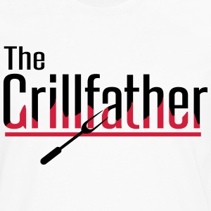 The Grillfather Delantales - Camiseta de manga larga premium hombre