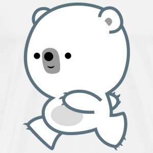 Cute Running Polar Bear Cub by Cheerful Madness!! Bottles & Mugs - Men's Premium T-Shirt