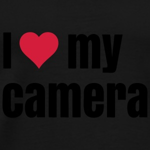 i love my camera Bags & backpacks - Men's Premium T-Shirt