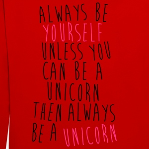Always be a Unicorn T-shirts - Kontrast-hættetrøje