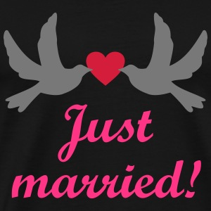 Just Married! Hochzeit vintage Clipart Bilder JGA Pullover & Hoodies - Männer Premium T-Shirt
