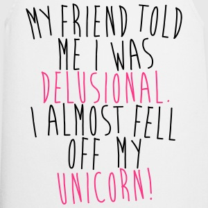 I almost fell of m unicorn! T-Shirts - Cooking Apron