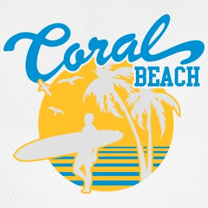 Coral Beach Surfers Heaven Bottles & Mugs - Baseball Cap