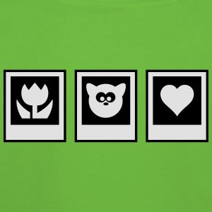 polaroid flower heart animal T-Shirts - Kids' Premium Hoodie