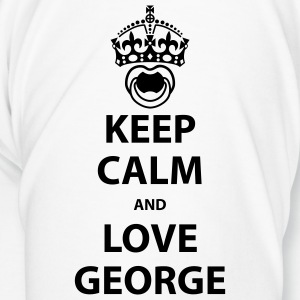 Keep calm and love George Flaschen & Tassen - Männer Premium T-Shirt