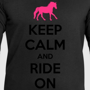Keep Calm and Ride On Horse Design T-skjorter - Sweatshirts for menn fra Stanley & Stella