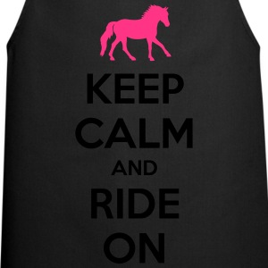 Keep Calm and Ride On Horse Design Koszulki - Fartuch kuchenny
