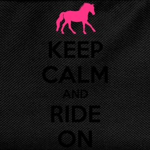 Keep Calm and Ride On Horse Design T-Shirts - Kids' Backpack