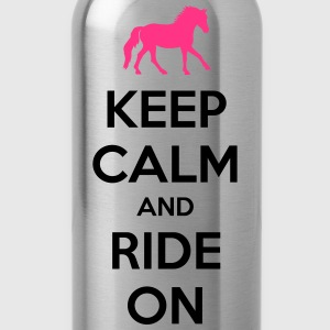 Keep Calm and Ride On Horse Design T-skjorter - Drikkeflaske