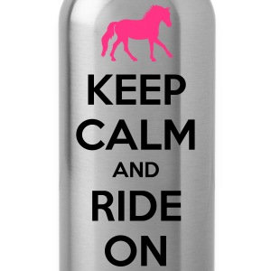 Keep Calm and Ride On Horse Design Camisetas - Cantimplora